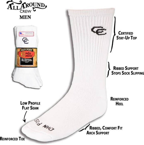 Dan Post Men's Crew Socks 2 Pack