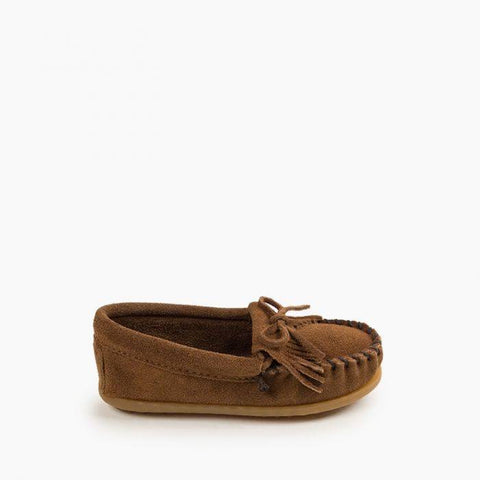 Minnetonka Children's Kilty Hardsole Dusty Brown