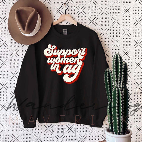 Support Women In AG Black Sweatshirt