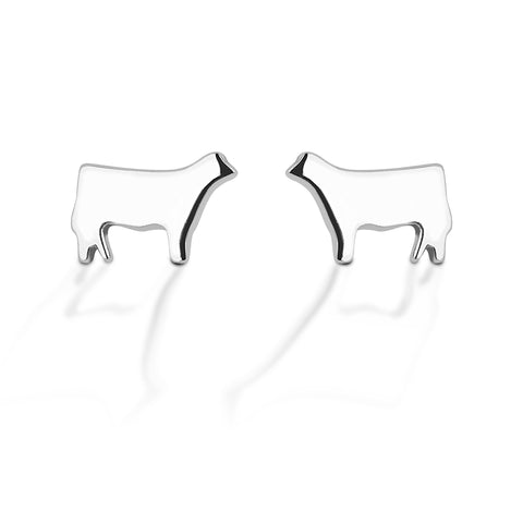 HCO Exclusive Sterling Silver Heifer Post Earrings