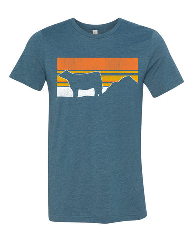 Sunset Steer Graphic Tee