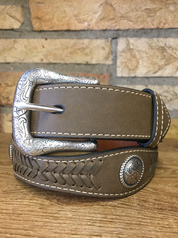 Ariat Girls Western Belt Brown