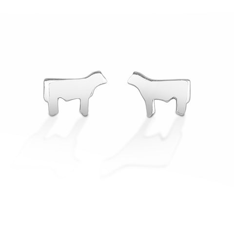 HCO Exclusive Sterling Silver Steer Post Earring