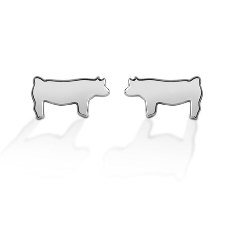 HCO Sterling Silver Pig Post Earring
