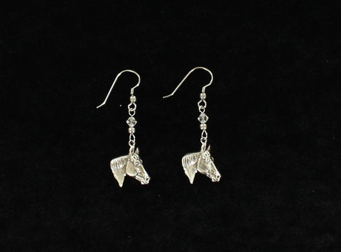 BLAZIN ROXX HORSEHEAD DANGLE EARRINGS