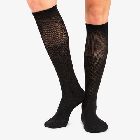 Thorlo Men's Black Western Dress Socks