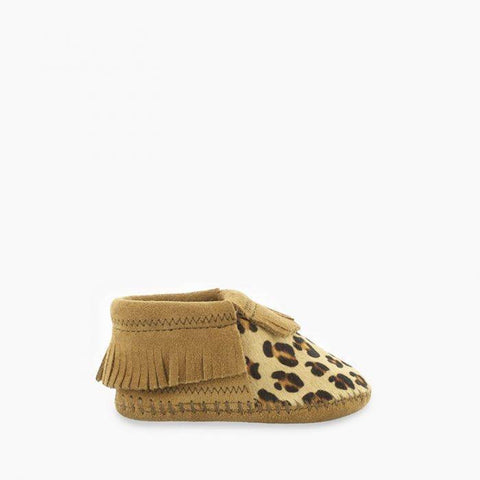 Minnetonka Infant Riley Bootie Leopard Hide/Taupe