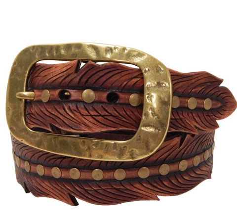 Roper Women's Embossed Feather Belt