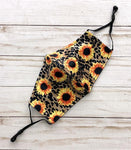 Sunflower Print Reusable Face Mask