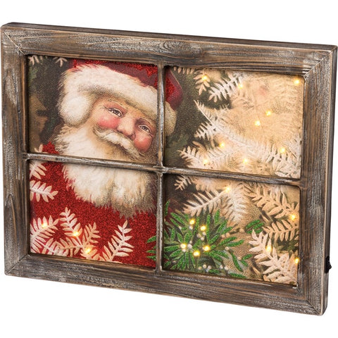 LED Window Sign - Santa