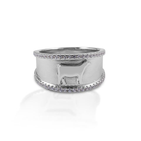 HCO Exclusive Sterling Silver Heifer Ring