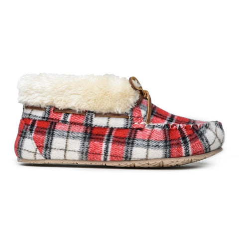Minnetonka Women's Chrissy Red Plaid