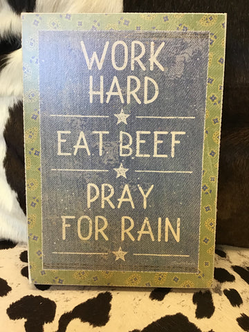 Primitives By Kathy Work Hard Box Sign