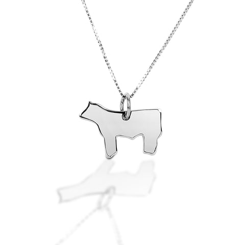 HCO Exclusive Sterling Silver Livestock figure Necklace