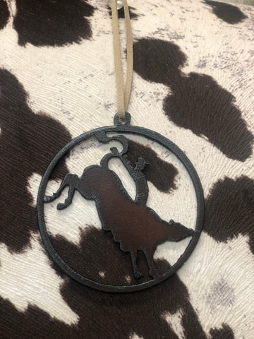 HCO Exclusive Metal Livestock/Rodeo Ornament