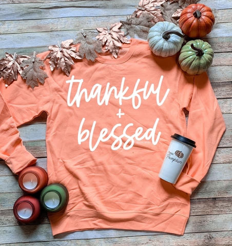 Women's Thankful and Blessed Sweatshirt