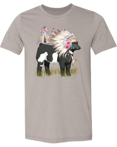 Women's Indian Steer Headdress Tee