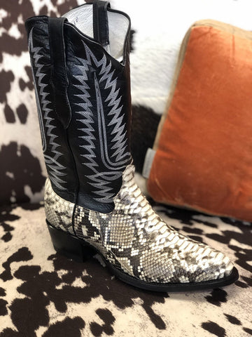 Cowtown Men's Genuine Snakeskin Boots