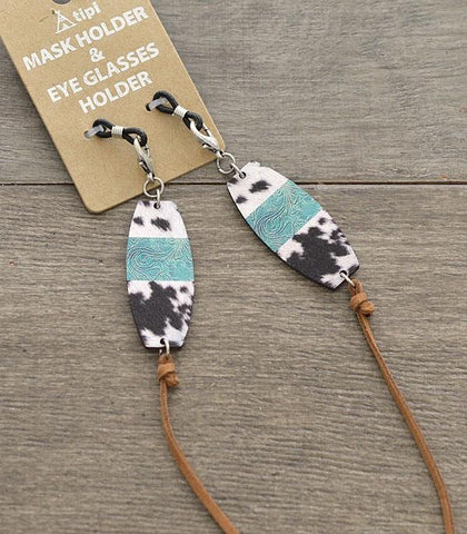 Cowhide Face Mask Holder Necklace