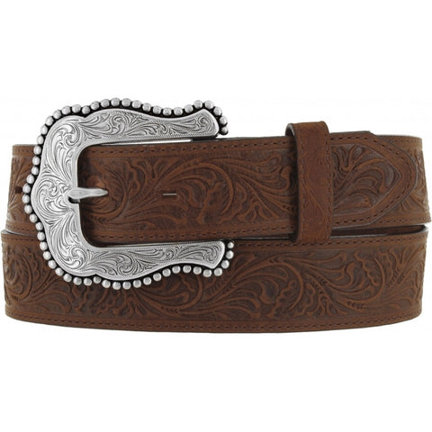 Tony Lama Women's Brown Layla Belt