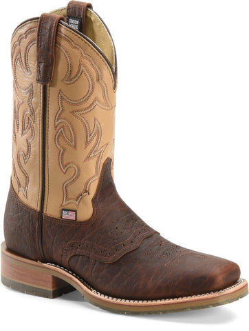 Double-H Men's Domestic Bison Wide Square Toe I.C.E. Roper
