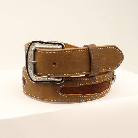 3D Boys Brown Western Classics Calf Hair