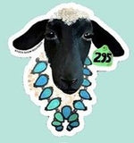 Livestock Wearing Turquoise Sticker/Decals
