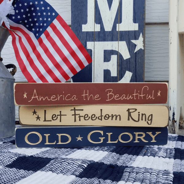 Stackable Patriotic Blocks