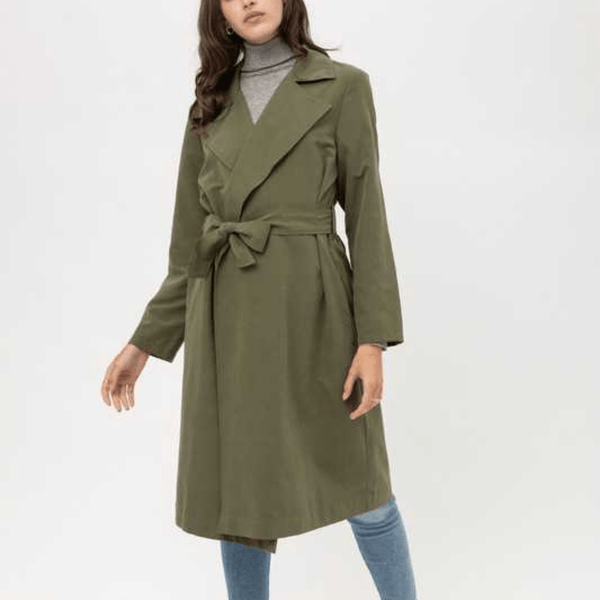Trench Coat with waist tie