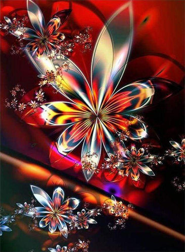 Diamond Painting, Glasblumen