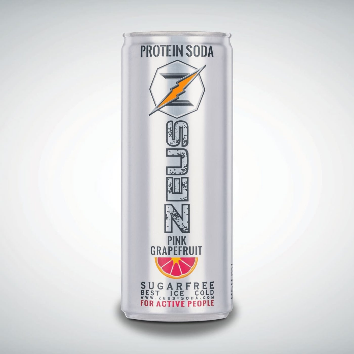 12 Monate <br> Zeus Protein Soda Pink Grapefruit