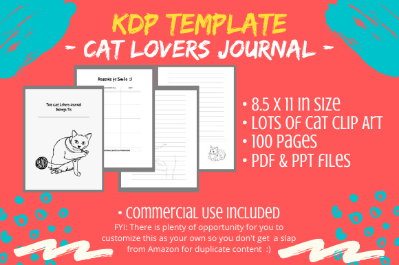 KDP Interior - Cat Lovers Journal Diary