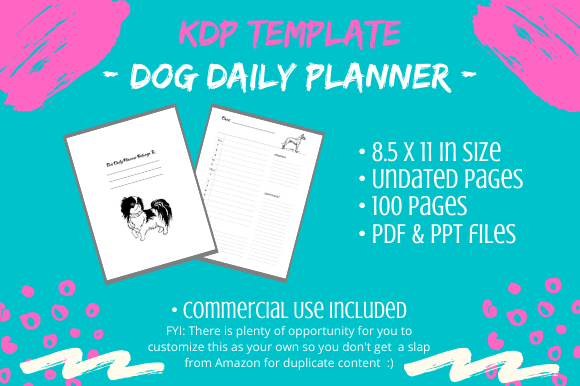 KDP Interior - Dog Lover Daily Planner