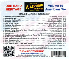 Americans We: Our Band Heritage, Volume 16