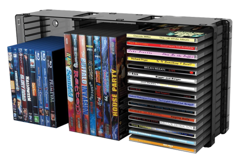 45-CD/21-DVD Stackable Holder