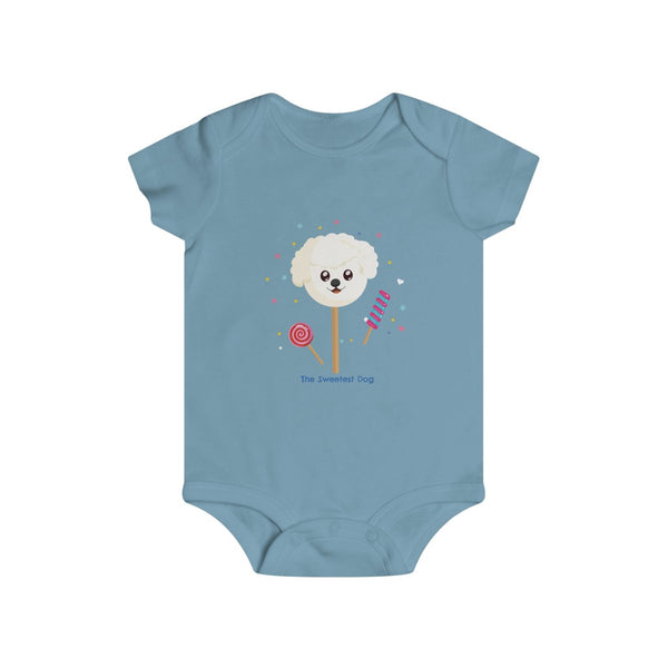 Infant The Sweetest Dog Baby Rip Snap Tee