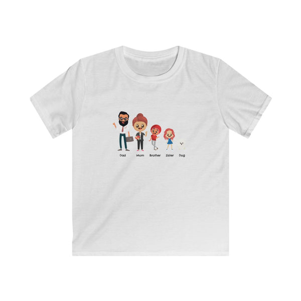 Kids Family Members Softstyle Tee