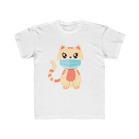 Stay Safe with Kitty O. Mail wearing a mask! Kids Regular Fit Tee