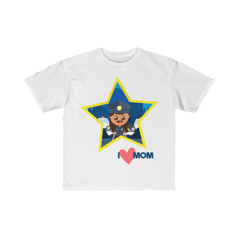 Kids I Love Mom Shirt Police Officer Retail Fit Tee