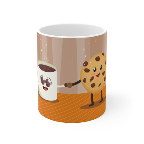 Cookies, Milk & Cute Coffee Mug 11oz