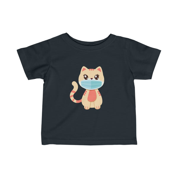 Stay Safe with Kitty O. Mail wearing a mask! Infant Fine Jersey Tee