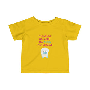 Stay Safe! Infant Fine Jersey Tee