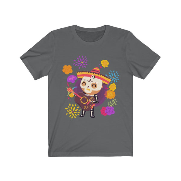 Adult Unisex Day of the Dead Jersey Short Sleeve Tee