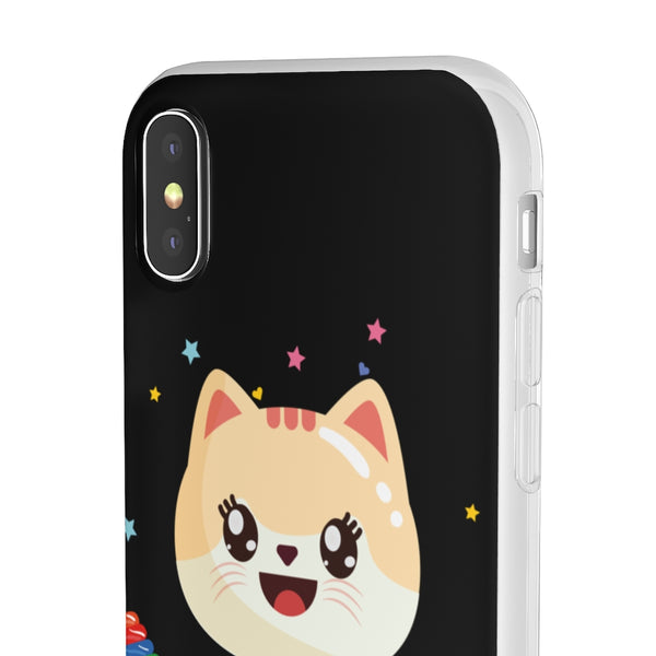 Candy Kitten Black Flexi Case
