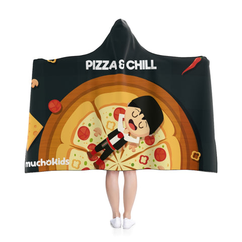 Hooded Pizza and Chill Hoodie Blanket