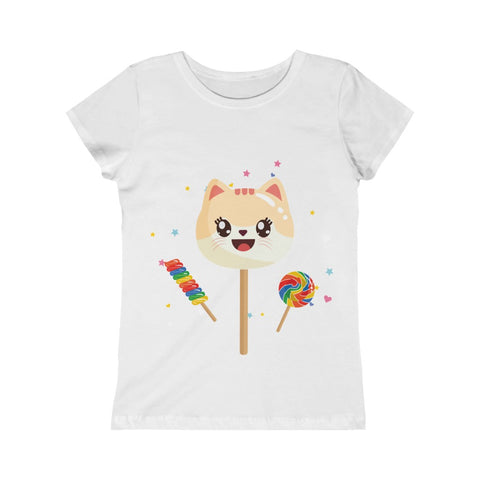 Girl's Cute Cat Candy Princess Tee