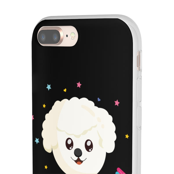 Candy Dog Black Flexi Case