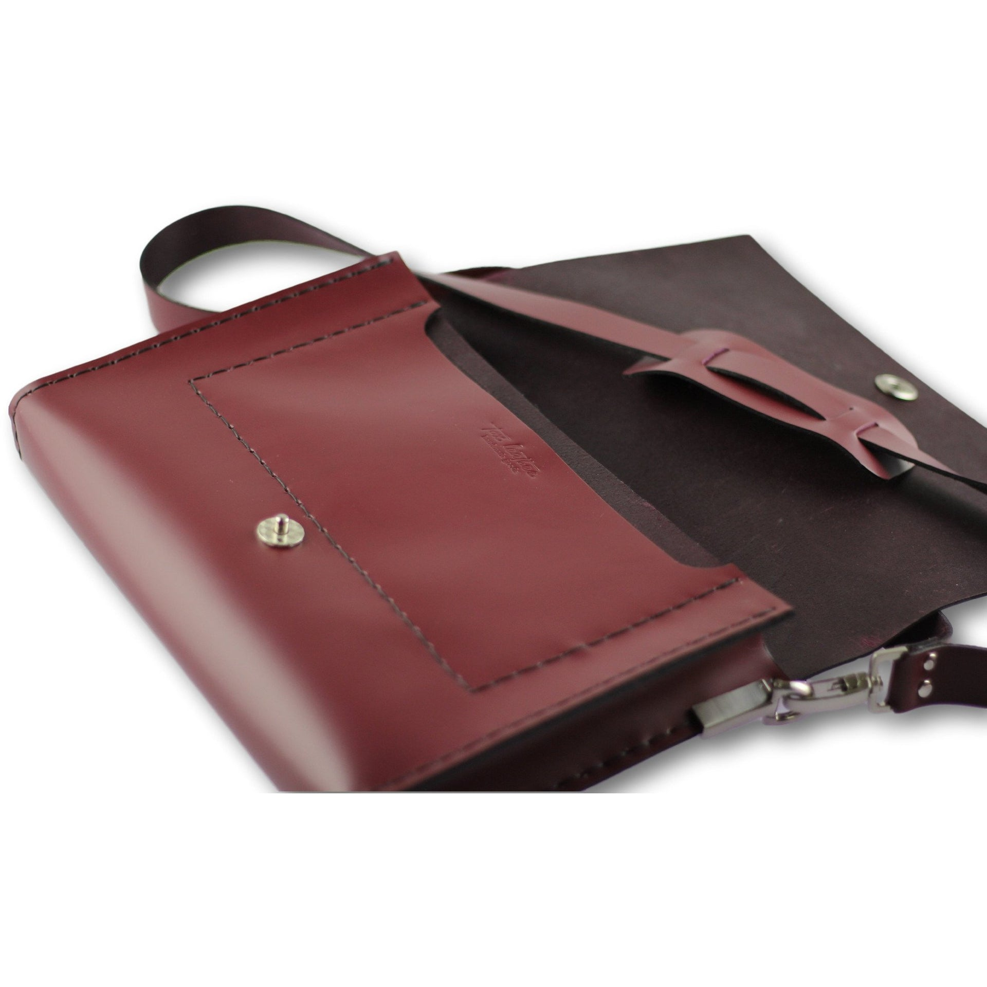Smooth shoulder bag | maroon