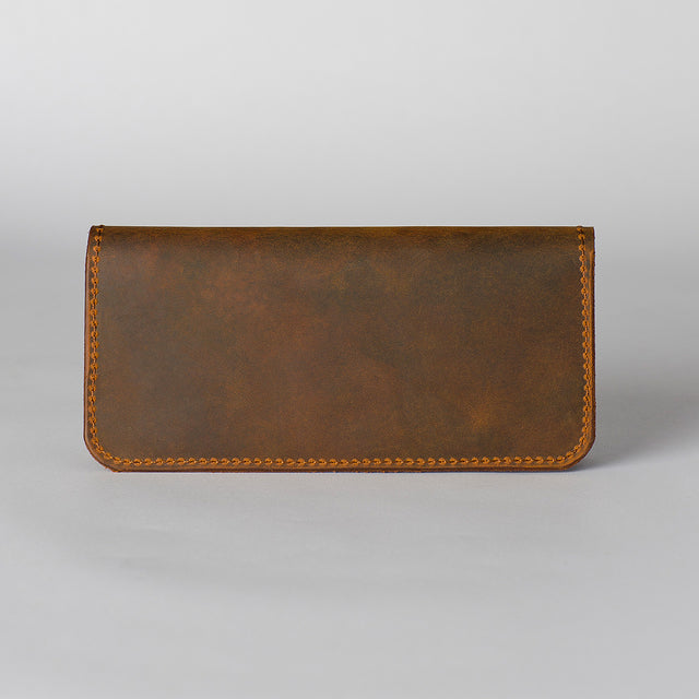 Distressed long wallet