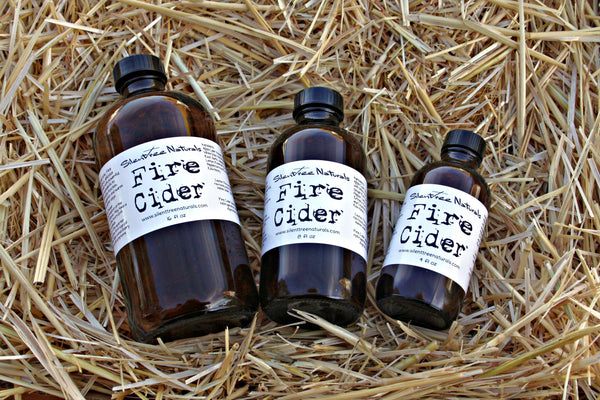 Fire Cider - 4, 8, and 16 fl oz, Natural and Organic, Immune-Boosting, Oxymel, Cold and Flu, Master Tonic, Spicy, Natural Products, Free Shipping